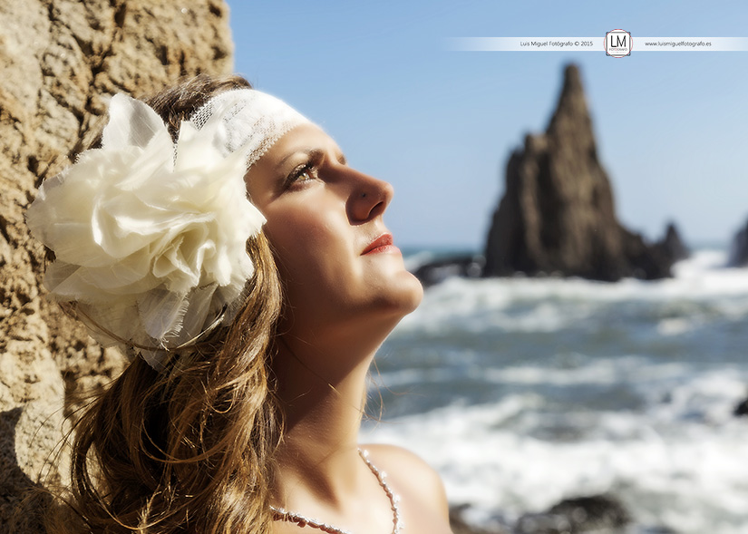 Fotógrafos Jódar fotos de post-boda en la playa de almería