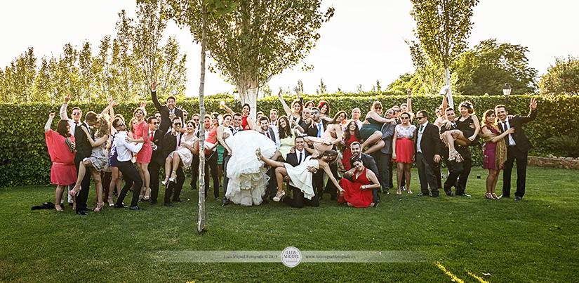 Fotos de boda divertidas y originales en las Caballerizas de la Virgen