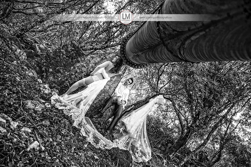 Fotos de novios atrevidas de fotógrafos en jaén. Fotos de novia en lencería.