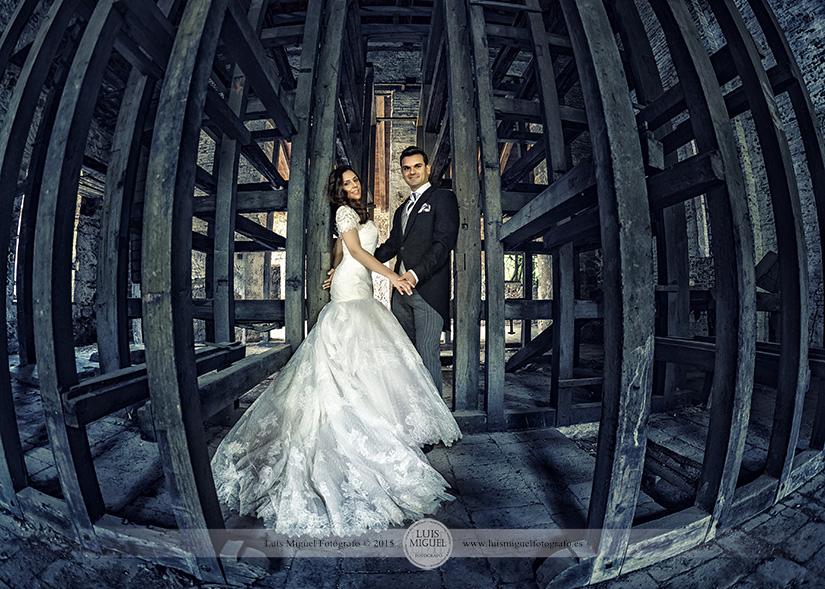 Fotos de bodas en las minas de linares