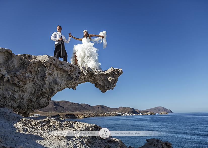 Boda de Úbeda realiza post-boda en Almería, Cabo de Gata
