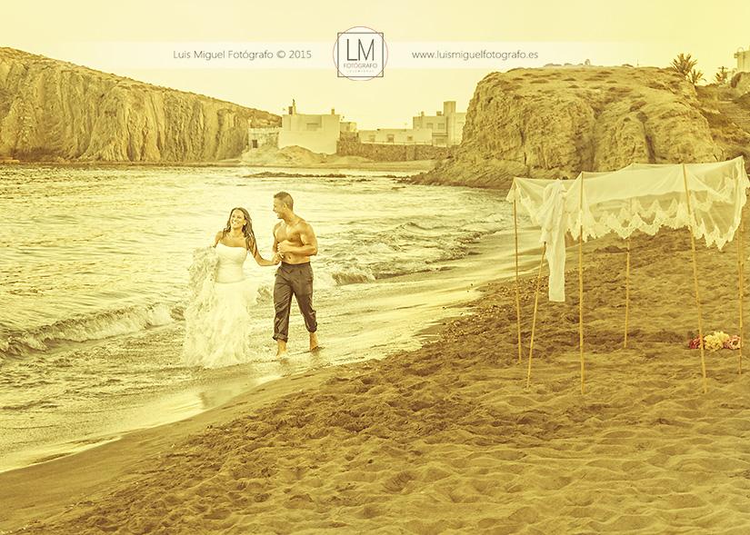 Boda en Úbeda realiza post-boda en Almería, Cabo de Gata