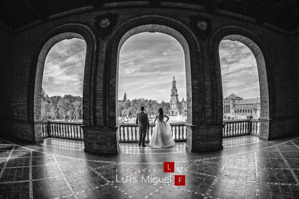 Fotos de boda originales en Sevilla