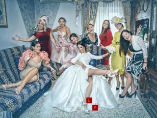 Momentos de locura con las amigas de la novia antes de la boda