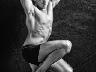 Book de fotos de modelo hombre semidesnudo